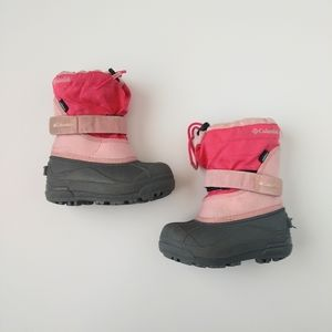 Columbia Toddler Girls Snow Boots Pink 9